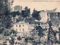 Montreuil Bonnin - la mairie et les ruines